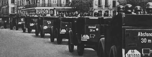 Немецко фашистские войска на дорогах