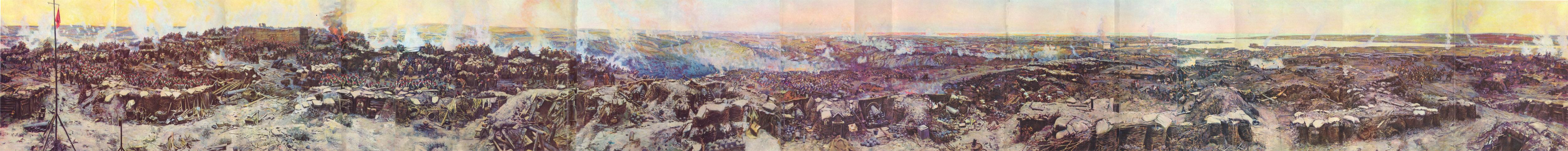 Была на панораме Обороны Севастополя...  Ммм..Еще была в Ханском дворце в Бахчисарая.  Но тут, в отличии от...