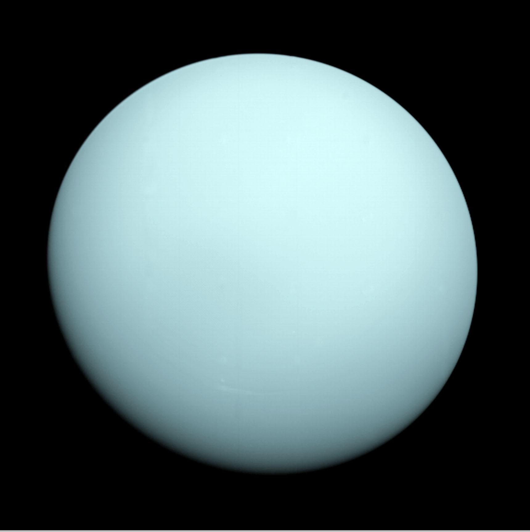 Фотография урана с аппарата вояджер 2